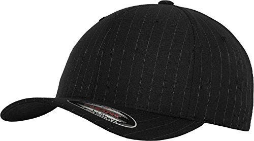 Flexfit Erwachsene Mütze Pinstripe, Blk/Wht, L/XL, 6195P