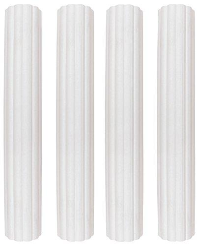 Säulen White Cake (PME DR006 weiße Kunststoff-Hohlsäulen, 152 mm, Sortiment, 4 Stück, Kunststoff, White, cm, 2.5 x 2.5 x 15 cm, 4 Einheiten)