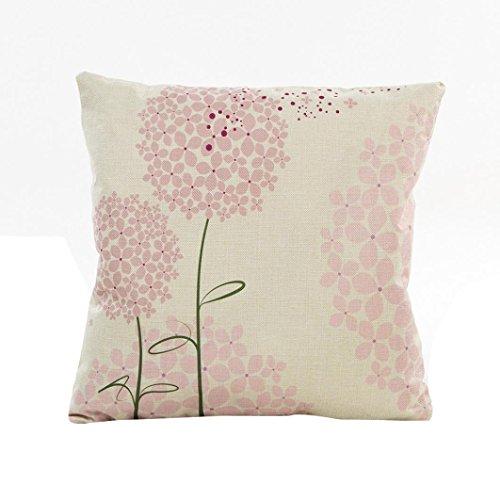 ug❤️Vovotrade Bettwäsche natürliche Blumen Gras Muster Kissen Sofa Taille Wurf Kissenbezug Case Chic minimalistischen Sofa Car Decor 43cm*43cm Platz Kissenbezug (B, 43cm*43cm) ()