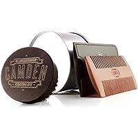 Camden Barbershop Company: Set de peine y cepillo para barba, para el aseo diario de la barba, ideal para la aplicación de aceite para barba