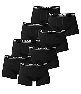 HEAD Men Boxershort 841001001-200 Basic Boxer 8er Pack black Size M