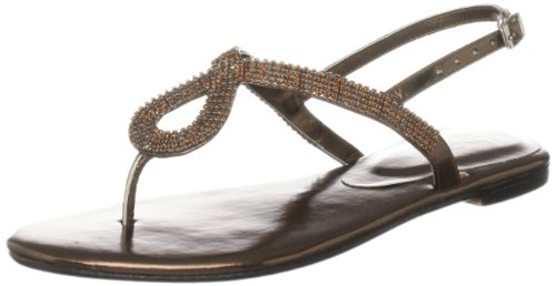 Unze Evening Sandals, Sandali donna Marrone (Braun (L18270W))