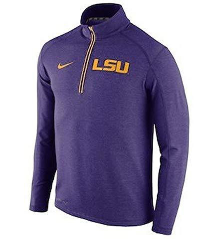 Half Zip Knit Top (Nike Herren LSU Tigers Purple Football Coaches Sideline Half Zip Tri-Blend Performance Knit Top Größe L)