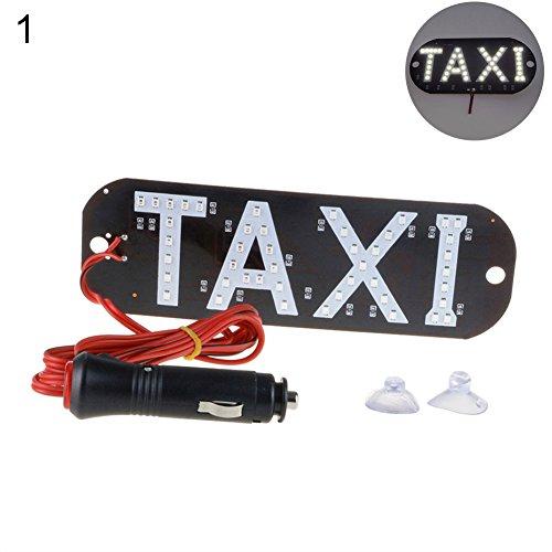 beiguoxia Taxi LED de Voiture de Plaque d'immatriculation Lumière Panneau Indicateur de Pare-Brise Cab à l'intérieur du Signal Lampe