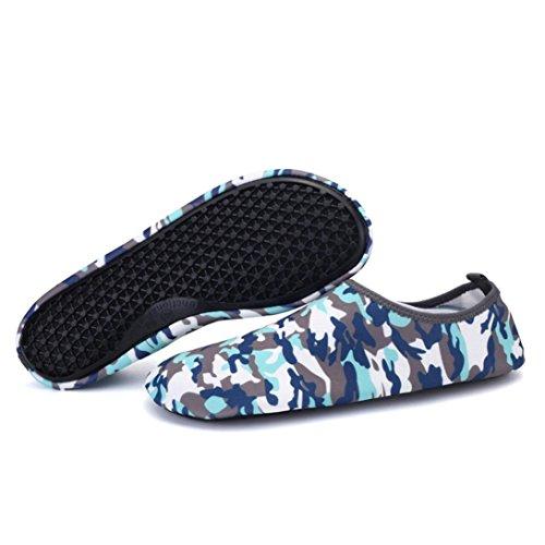 Badeschuhe Strandschuhe Wasserschuhe Barfußschuhe Wasser Yoga Schuhe Socken(39,Camouflage) (70er Socken)