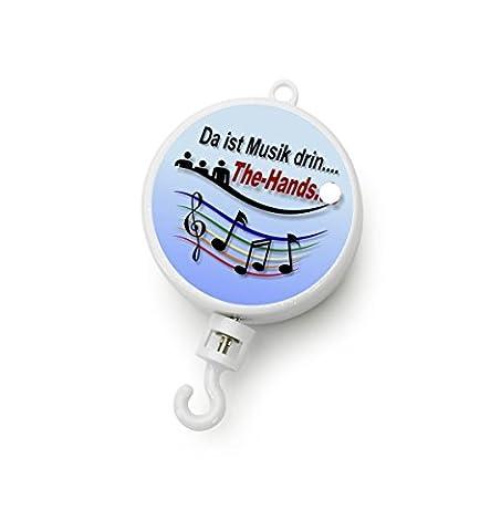 Dreh Spieluhr mit Motor Spielwerk weiß mit Melodiewahl für Musik Mobiles (Melodie Mary had a little lamb)