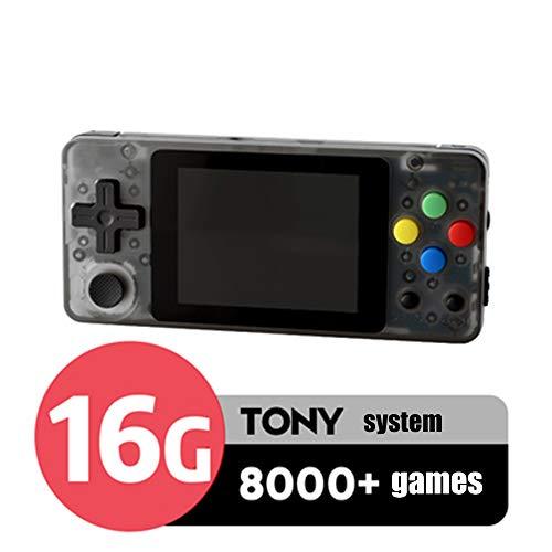 LSXX Ouvrez la Console de Jeu Source développeurs Jeu de Programmation 2.7in Console de Jeu Portable de Jeu PSP FC GBA intégré 13000 Jeux,Noir,16GB