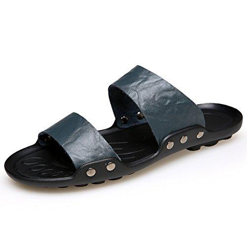 Nero, Gli Uomini Le Pantofole, Casuali, Tendenze, Spiaggia Di Scarpe, Sandali. blue