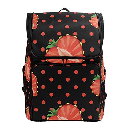 Ahomy Schulranzen Cartoon-Erdbeer-Herz-Form Wanderrucksack Cool Sport Rucksack Laptop Tasche Leichter Schulrucksack für Teenager Mädchen Jungen