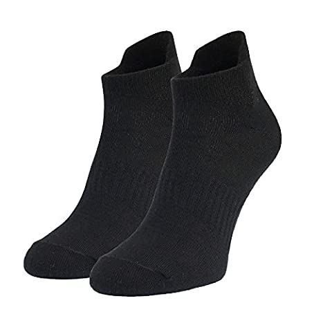 MO-KO-KO - 2 Pairs Ankle/Quarter Crew UNISEX Mens Womens Sport Socks Cotton Low Cut & No Show (Medium,