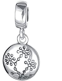 Zxx Jewelry Charm Sterling Silver Spacer Colgante 925 Charm Bracelet Bead Women Bead Charm Come with a Gift Packaging, sin níquel, Aprobado