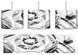 Traumfänger mit Federn Kunst B&W inkl. Lampenfassung E27, Lampe mit Motivdruck, tolle Deckenlampe, Hängelampe, Pendelleuchte - Durchmesser 30cm -...