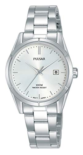 Pulsar Damen Analog Quarz Uhr mit Edelstahl Armband PH7471X1