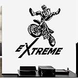 Mhdxmp Extreme Motorcross Vinyl Wall Decal Aufkleber Dirt Bike Jungen Schlafzimmer Gear53 * 44Cm