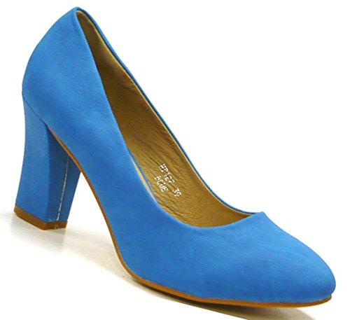 Schuh-City Standart Damen Schuhe Pumps elegante High Heels Blau