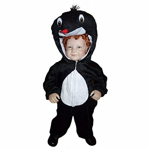 Maulwurf-Kostüm An47 für Babies und Klein-Kinder Faschingskostüme, Gr.-86-92/18-24 Monate, Schwarz-Weiß (Kleinkind Kuschelige Kuh Kostüme)
