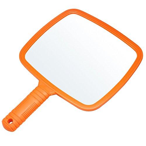 Miroir portable professionnel Accessotech - Avec poignée - Pour salon, coiffeurs