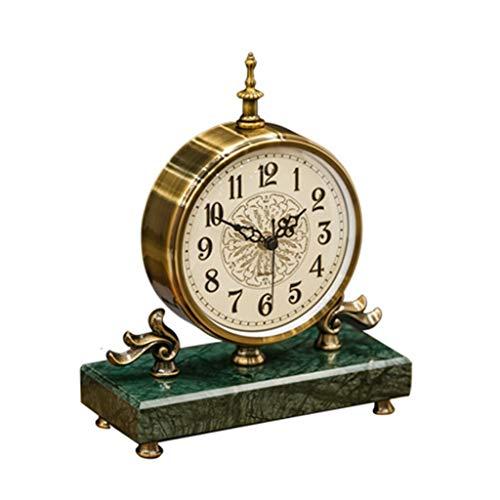 Standuhren High-End-Uhr, Europäisches Licht Uhr Desktop Tischuhr Wohnzimmer Dekoration Verziert Mutet Zen Schmuck