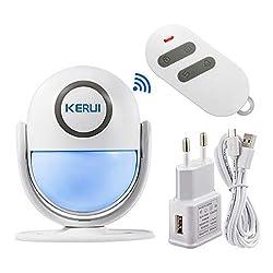 Wireless Alarmsystem f/ür die Auffahrt von 4VWIN mit 1/Empf/änger und 3/Infrarot-PIR-Bewegungsmeldern f/ür die Heim-Sicherheit