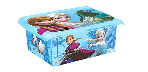 Preisvergleich Produktbild keeeper Frozen Aufbewahrungsbox mit Deckel, 39 x 29 x 14 cm, 10 l, Filip, Blau Transparent