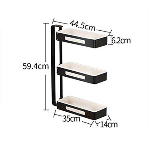 Sql ripiani rotanti angolari da cucina. 3 piani in alluminio , black
