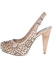 ROBERTO BOTELLA - Zapato correa al talon con adorno láser - Color Beige - Talla 40