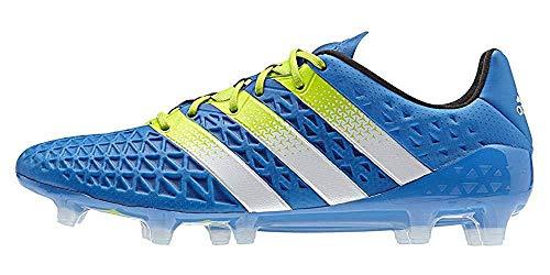 adidas Performance Ace16.1 FgAg, Chaussures de Football Homme, Bleu (Shock BlueSemi Solar SlimeFtwr White), 40 EU