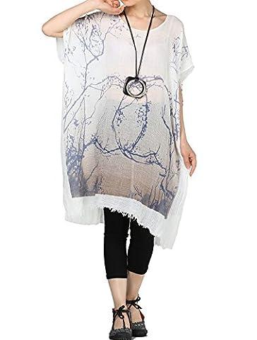 La Taille Des Robes Dété - Vogstyle Femmes T-shirt Long Léger Robe D'été