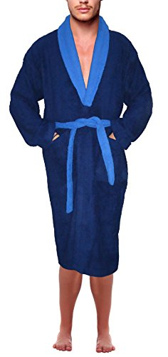 SKYLINEWEARS Men's 100% Terry Cotton Bathrobe Toweling Dressing Gown Robe