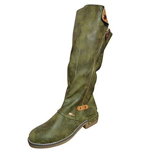 Kaister Stiefel Europa und den Vereinigten Staaten Außenhandel große Ritterstiefel hohe Stiefel Damenstiefel grün