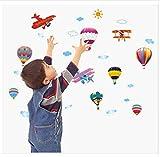 Abnehmbare Flugzeug Aufkleber, schöne Cartoon-Ballons für Wand Dekor der Kinderzimmer
