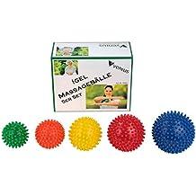 BB Sport Massagebälle 5er Set Igelbälle in verschiedenen Härtegraden und Größen