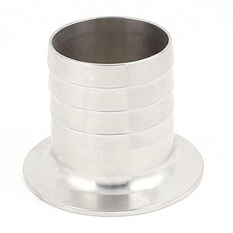 sourcingmap® Rostfreie Stahl 304 KF50 Flansch zu 50mm Schlauch Widerhaken Adapter für Vakuum