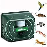 YCGJ Repelente de Insectos al Aire Libre ultrasónico, Repelente electrónico ultrasónico de Alta Potencia Alarma analógica Sonido Inteligente roedor electrónico