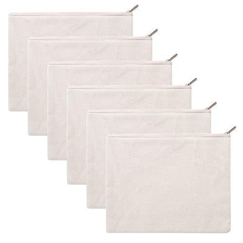 Aspire 6 Pack 12oz Bolsas algodón cremallera, 8
