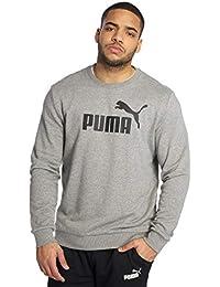 Puma Ess Crew TR Big Logo, Felpa Uomo, Grigio (Grey Heather), XL