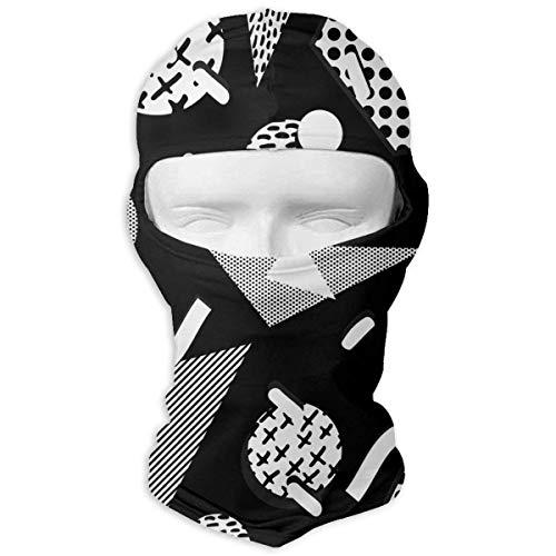 Xukmefat Vollmaske Ski Mask Atmungsaktiv Schnell trocknend Retro Black and White Pattern Men Women - Pacific Black Duck
