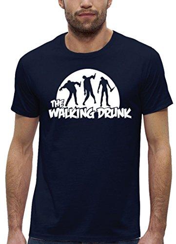 JGA Premium Herren T-Shirt aus Bio Baumwolle JGA 29 THE WALKING DRUNK Stanley Stella Navy