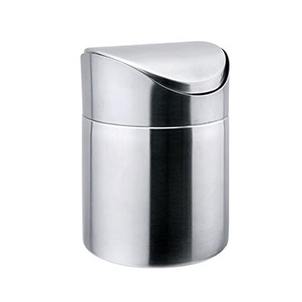 Finer Shop Stainless Steel Mini Trash Can Desktop Storage Barrels