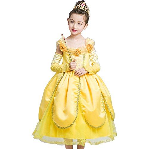 Kleine Mädchen Prinzessin Kostüm Kleid,Fanryn Cosplay Halloween Geburtstag Party Kleid Fancy Kleid Mädchen Kinder Kleid Halloween (Prinz Kostümen Indische)