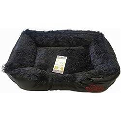 Lujo suave cálido lavable perro gato mascota cesta Cama Cojín con forro polar–grandes y pequeñas