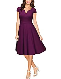 MIUSOL Damen 50er Vintag Style Swing A-Linie Kleid