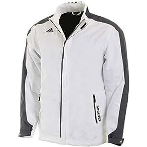2015 Adidas Climaproof GORE-TEX 3 Stripes Full Zip Mens Waterproof Golf Jacket White/Onix Large