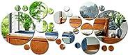ملصق جداري مكون من 28 قطعة، بتصميم مراة مستديرة الشكل، قابل للازالة مصنوع من الاكريليك، مناسب لغرفة المعيشة وغ
