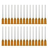 Aghi punta punta smussata Luer-Lock 50pcs 23g x 1.5inch, ago in acciaio inossidabile con punta smussata, ago smussato, aghi in plastica industriale, aghi smussati (23g)