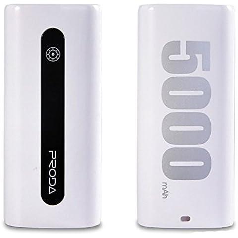 Fone-Case (White) Huawei Nova 5000mAh Banca portatile di potere caricabatteria esterno ultra compatta