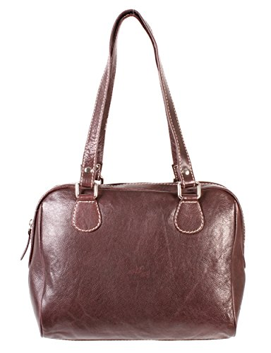 Rl 664 Marron Londres Mesdames sac à main en cuir véritable – Oxbridge Medium Fashion Bag