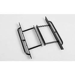 4x4 Rocker Sliders, Coated Black W/Side Tubing