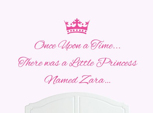 Price comparison product image Once Upon a Time Princess Zara Large Wall Sticker / Decal Bed Room Art Girl / Baby