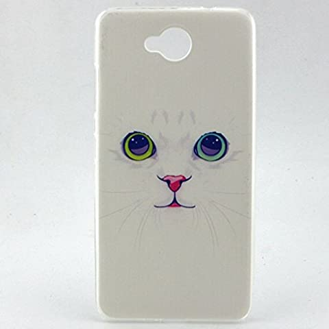 chat mignon Premium gel TPU souple Clair Bumper silicone protection Housse arrière coque étui Pour Nokia Lumia 650